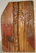 sculpture abstrait bois sculpture peinture saison : Automne