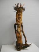 sculpture personnages sculpture bois asexue personnages : Janon