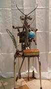 sculpture animaux bois chevre sculpture metal : Les cervidés migrateurs