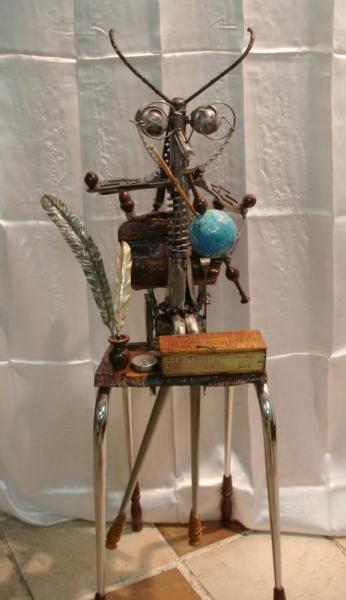 SCULPTURE bois chévre sculpture métal Animaux Assemblage Métal  - Les cervidés migrateurs