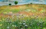 tableau : La prairie au printemps