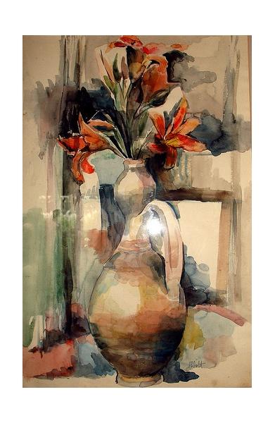 TABLEAU PEINTURE  - Vase de fleurs