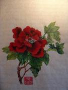 dessin fleurs pivoine fleur chinois encre : Pivoine