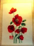 tableau fleurs coquelicots fleurs champetre : Coquelicots