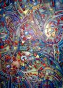 tableau abstrait all over abstrait couleurs : Trépidant