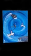 tableau abstrait bleu bermudes mysteres spirale : Le mystère des Bermudes