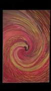 tableau animaux phoenix rouge jaune oiseau : Naissance d'un Phoenix