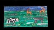 tableau paysages animaux menhir dolmen printemps : Printemps celtique