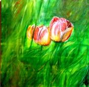 tableau fleurs toile fleurs peinture saisons : one saison