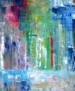 tableau abstrait peintre art abstrait artiste peintre huile sur toile : PROJECT