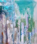 tableau abstrait toile huile artiste abstrait : K140