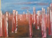 tableau abstrait abstrait huile tableaux peinture : ELEVATION
