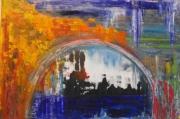 tableau abstrait toile peinture artiste huile sur toile : AFTER