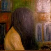 tableau personnages portrait peinture ,a l hu art abstrait musee : La fille d'o