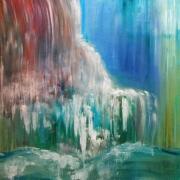 tableau paysages peinture huile art abstrait artiste : SONG OF WATER