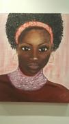 tableau personnages afrique : AFRICAINE AU COLLIER