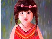 tableau personnages enfant bulgare : PETITE FILLE BULGARE