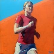 tableau personnages sport femme fitness courir : Coureuse