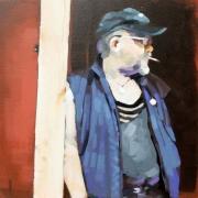 tableau personnages personnage acrylique toile casquette : Jean-Louis