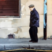 tableau scene de genre scene rue personnage peinture : Le maître