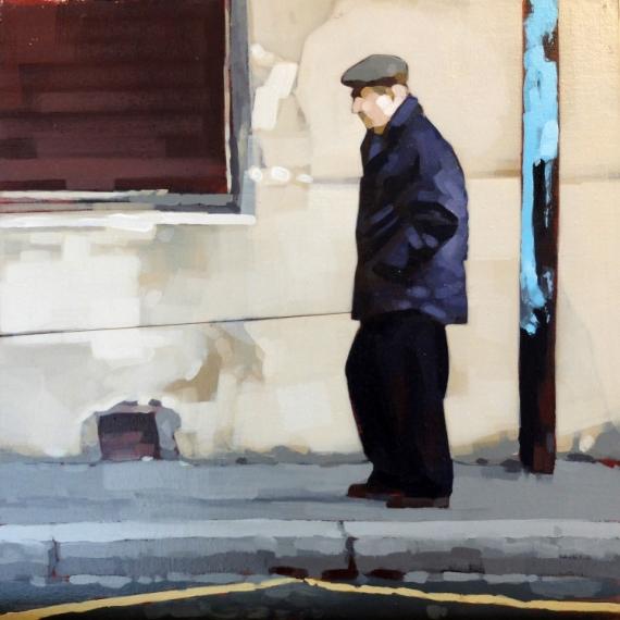 TABLEAU PEINTURE scene rue personnage peinture Scène de genre Acrylique  - Le maître
