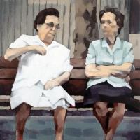 Discussion sur un banc