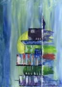 tableau abstrait immeubles paysage : City landscape