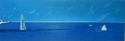 tableau marine voile mer ocean espoir : horizon lointain