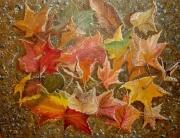 tableau fleurs feuille automne saison : feuilles d'automne