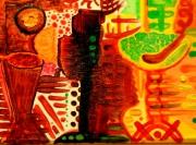 tableau abstrait : coke tail
