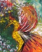 tableau animaux acrylique abstrait : Phenix