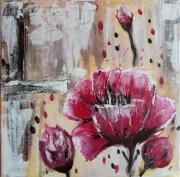 tableau acrylique fleurs : Fleurs