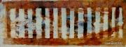 """tableau paysages technique mixte serie paysage ame : Serie palimpsestes """"depuis le train"""""""