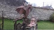 sculpture autres : dragon et son elfe