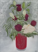 tableau fleurs florale noel fete : Les roses