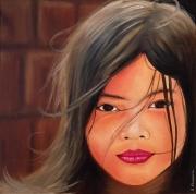 tableau personnages portrait enfant monde emotion : Nais