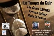 artisanat dart montre bracelet cuir gautier : Bracelet de montre