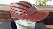 artisanat dart sport casquette cuir mode equitation : casquette en cuir aérée