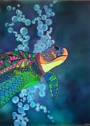 tableau marine tortue mer ocean original : Tortue