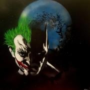 tableau personnages batman joker nuit : Batman