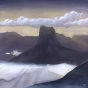 tableau paysages : Peinture acrylique : Mont Aiguille