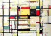 tableau abstrait de stijl : Peinture abstraite 01-09-18