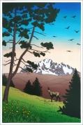 tableau : Le Mont Blanc