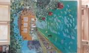 tableau paysages pont villa fleurs : Enfin arrivé...