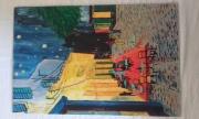 tableau villes cafe van gogh terrasse nuit : terrasse de café la nuit