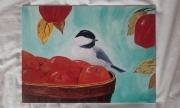 tableau oiseau pommes : P'tit voleur...