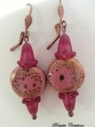 bijoux autres bo porcelaine perles porcelaine : LES PORCELAINES ROSES
