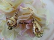 bijoux autres verre de murano boucles d oreil murano beads bo murano : LES GOUTTES GOLD ET AVENTURINE
