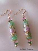 bijoux fleurs verre de murano boucles d oreil : LES BOUCLES FLEURIES