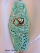 bijoux autres shibori silk manchette shibori soie shibori bijou de createur : LA SHIBORI MINT